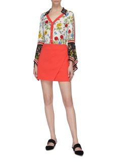 alice + olivia Shaylee纯色包裹式半裙