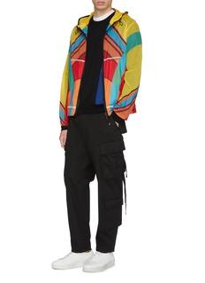 Moncler Genius x Craig Green Spinner拼色几何图案连帽外套