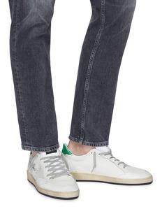 Golden Goose Ball star品牌名称裂纹真皮拼接运动鞋