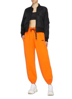 Victoria Beckham x Reebok logo纯棉休闲裤