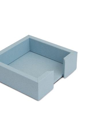 细节 –点击放大 - Pinetti - Liverpool小牛皮留言簿盒-浅蓝色