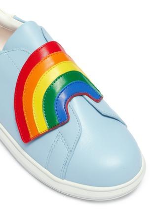 细节 - 点击放大 - WiNK - Popcorn儿童款彩虹搭带真皮运动鞋