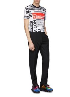 Versace 报纸印花纯棉T恤
