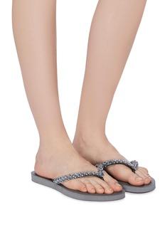 UZURII Precious Classic仿水晶人字拖鞋