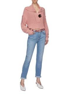 Stella McCartney 品牌名称拼色裤腰水洗牛仔裤