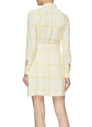 背面 - 点击放大 - Equipment - Edwidge条纹及暗格纹图案衬衫裙