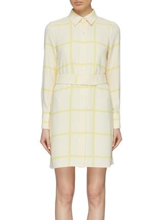 首图 - 点击放大 - Equipment - Edwidge条纹及暗格纹图案衬衫裙