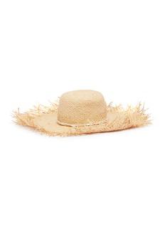 Gladys Tamez Isla木环系绳帽带须边编织草帽