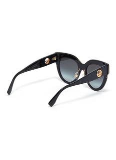 Fendi Wayfarer镂空金属logo板材太阳眼镜