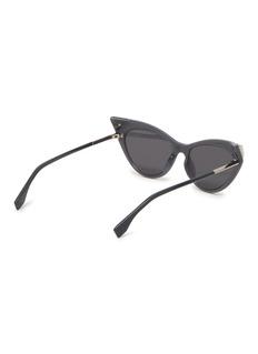 Fendi 仿水晶点缀板材猫眼太阳眼镜