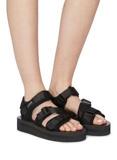 SUICOKE KISEE-VPO三重尼龙搭带厚底凉鞋