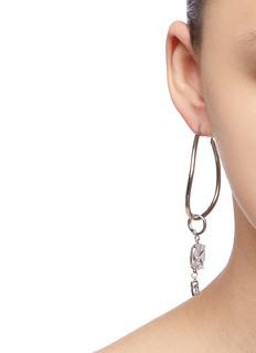 MOUNSER Infinity可拆式仿水晶吊坠不对称耳环