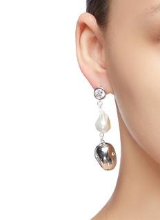 MOUNSER Evolution人造珍珠及仿水晶吊坠耳环