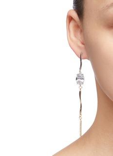 MOUNSER Shower仿水晶吊坠拼色不对称耳环