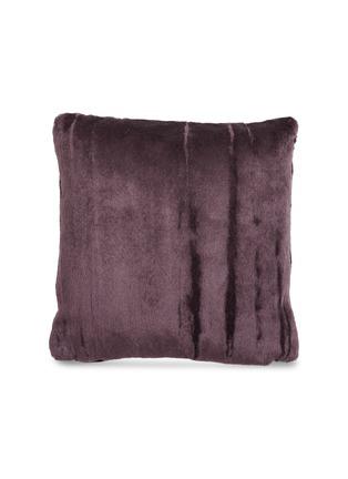 首图 –点击放大 - TOM DIXON - Soft深浅纹理马海毛天鹅绒靠垫-酒红色(43厘米)