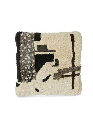 首图 –点击放大 - TOM DIXON - Abstract毛绒质感抽象图案靠垫-米色
