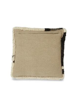 - TOM DIXON - Abstract毛绒质感抽象图案靠垫-米色