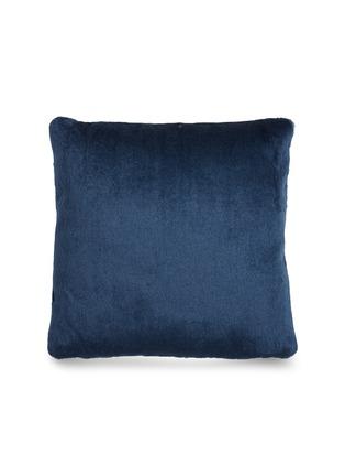 首图 –点击放大 - Tom Dixon - Soft深浅纹理马海毛天鹅绒靠垫-深蓝色(43厘米)