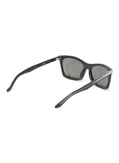 Balenciaga Logo竖纹板材方框太阳眼镜