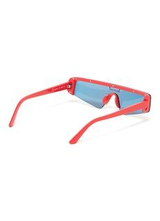 Balenciaga logo条纹几何镜面镜片太阳眼镜