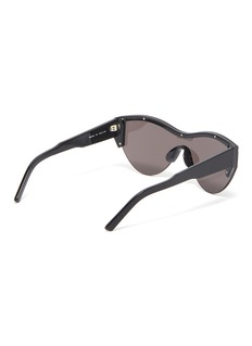 Balenciaga logo条纹镜面猫眼太阳眼镜