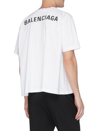 背面 - 点击放大 - Balenciaga - Droopy logo纯棉T恤