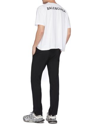 模特儿示范图 - 点击放大 - Balenciaga - Droopy logo纯棉T恤