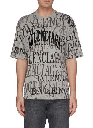 首图 - 点击放大 - Balenciaga - Chinatown搭叠logo纯棉T恤