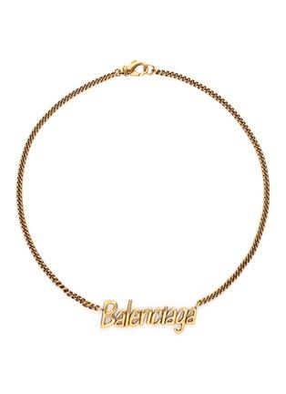 首图 - 点击放大 - BALENCIAGA - Typo品牌名称缀饰金属项链