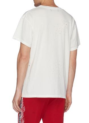 背面 - 点击放大 - Amiri - 破洞细节纯棉T恤