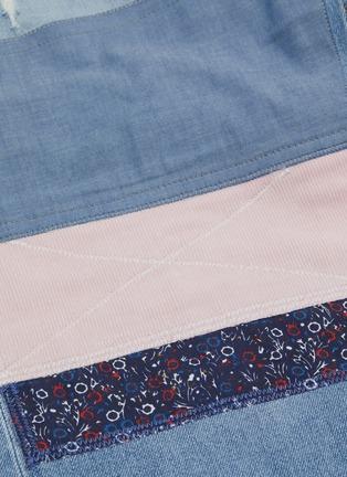 - DENHAM - 日式印花布饰拼接磨破露踝牛仔裤