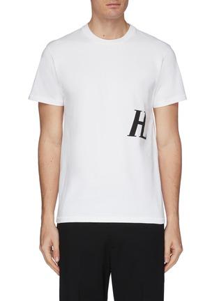 首图 - 点击放大 - HELMUT LANG - Masc Little HL logo纯棉T恤