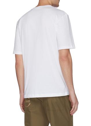 背面 - 点击放大 - Helmut Lang - Alien logo刺绣T恤