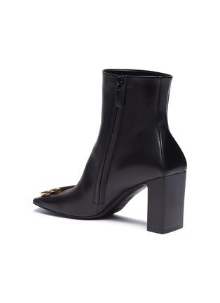 - Balenciaga - BB金属缀饰真皮方头粗跟短靴