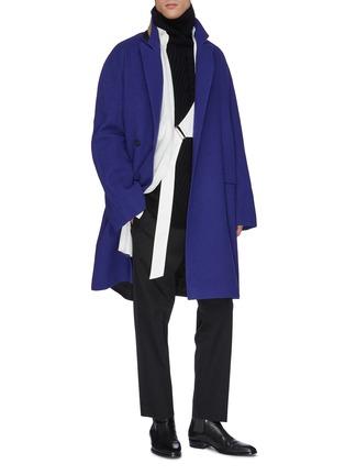 模特儿示范图 - 点击放大 - Haider Ackermann - 高领羊绒针织衫