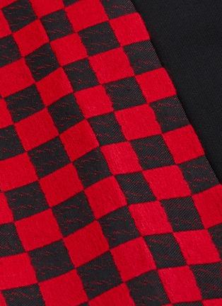 - Haider Ackermann - 拼色侧格纹羊毛长裤