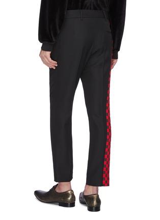 背面 - 点击放大 - HAIDER ACKERMANN - 拼色侧格纹羊毛长裤