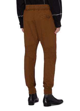 背面 - 点击放大 - Haider Ackermann - Moonshape绗缝细节拼色抽绳纯棉休闲裤