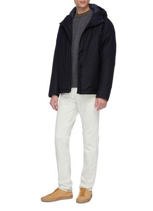 模特儿示范图 - 点击放大 - NORSE PROJECTS - Vagn混羊毛纯色卫衣