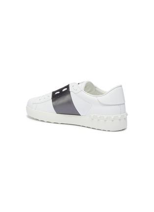 - Valentino - Valentino Garavani Open铆钉点缀金属感条纹真皮运动鞋