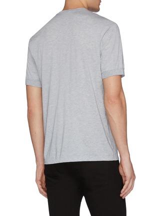 背面 - 点击放大 - James Perse - 亨利领棉混羊绒T恤