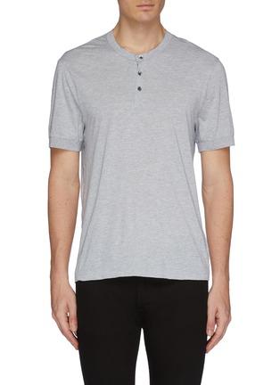 首图 - 点击放大 - James Perse - 亨利领棉混羊绒T恤