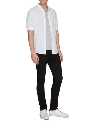 模特儿示范图 - 点击放大 - James Perse - 亨利领棉混羊绒T恤