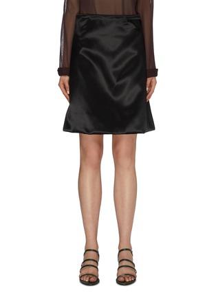 首图 - 点击放大 - Bottega Veneta - 折叠细节缎面A字半裙