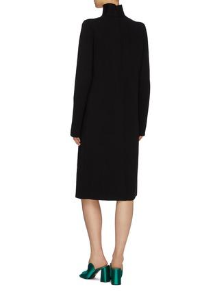 背面 - 点击放大 - Bottega Veneta - 挖剪高领针织小黑裙