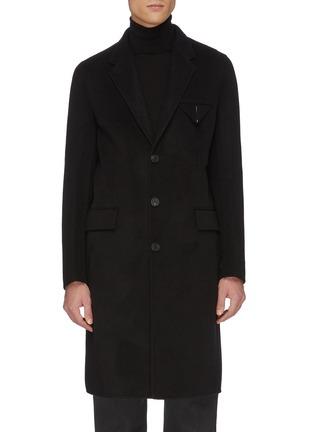 首图 - 点击放大 - BOTTEGA VENETA - 平驳领三角布饰口袋羊绒修身大衣
