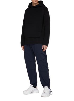 模特儿示范图 - 点击放大 - Bottega Veneta - 混羊绒连帽卫衣