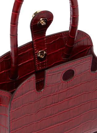 细节 - 点击放大 - MANU ATELIER - Ladybird超迷你鳄鱼纹小牛皮手提包