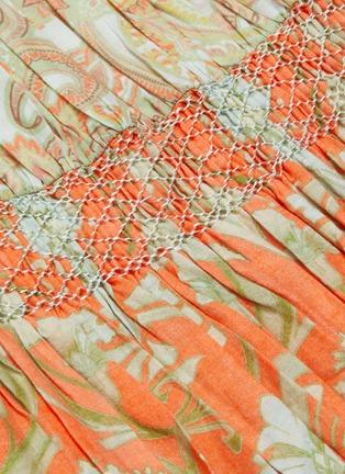 - alice + olivia - Kia荷叶边露肩褶裥印花连衣裙
