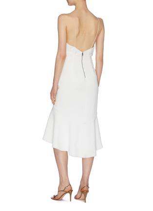 背面 - 点击放大 - alice + olivia - Adrina褶裥露背吊带连衣裙